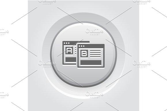 AB Testing Icon Grey Button Design