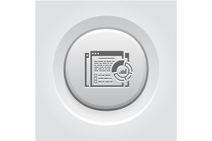 Report Icon. Grey Button Design.