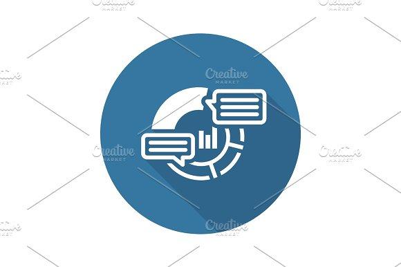 Analytics Icon Flat Design