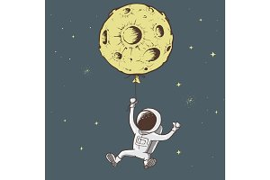 Sweet astronaut keeps for moon