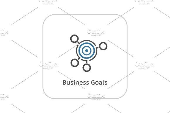 Business Goals Icon Flat Design