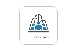 Business Team Icon. Flat Design.