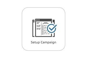 Setup Campaign Icon. Flat Design.