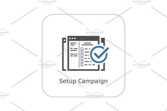 Setup Campaign Icon Flat Design