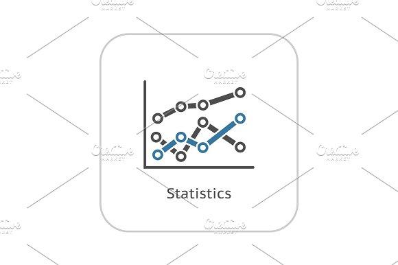 Statistics Icon Flat Design