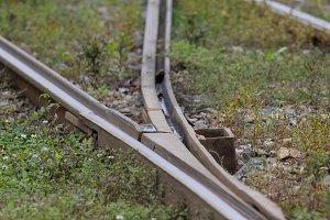 Steel railway tracks for tram