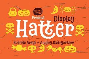 Hatter Display Font+Dingbats