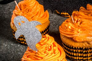 Funny cupcakes for Halloween