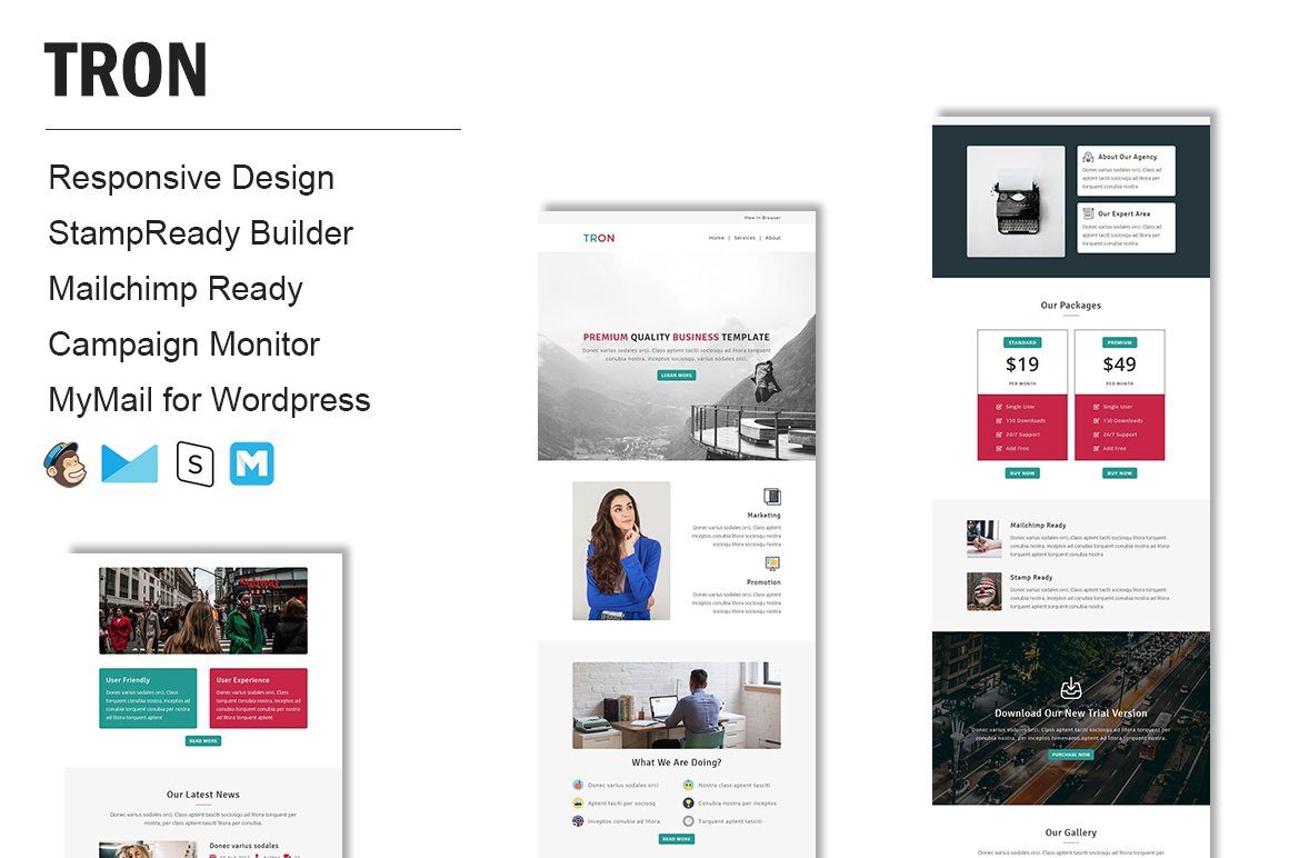 Responsive Email Templates | Tron Responsive Email Template