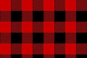 Red & Black Plaid Pattern