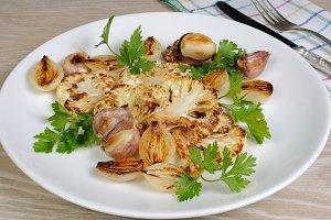 appetizer of fried  cauliflower