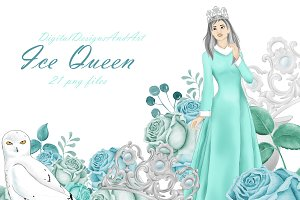 Ice queen clipart
