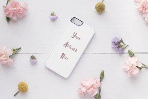 Iphone 5 flat case mockup