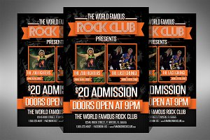 Rock Club Flyer