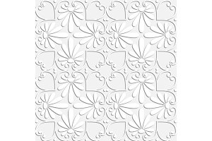 vector seamless white floral ornament
