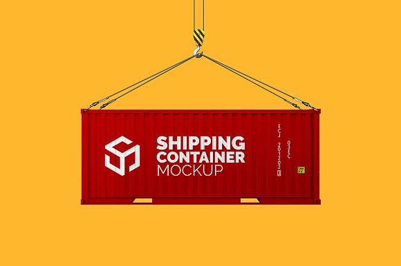 Shipping Container Mockup-Graphicriver中文最全的素材分享平台