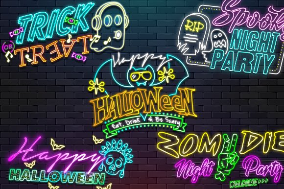 Pack Halloween Neon Sign