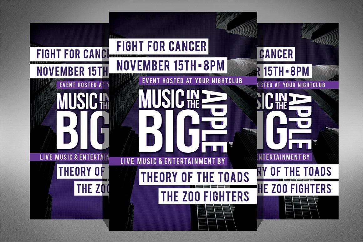 charity event concert flyer flyer templates creative market