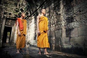 Portrait of Combodian monk