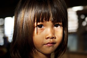 Portrait of a Cambodian girl