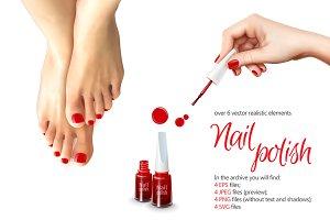 Nail Polish Realistic Set