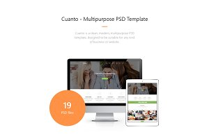 Cuanto – Multipurpose PSD Template