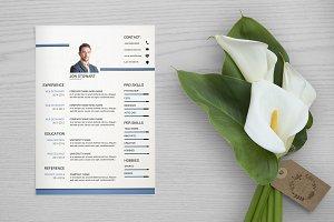 Clean Resume / Cv Template-V039