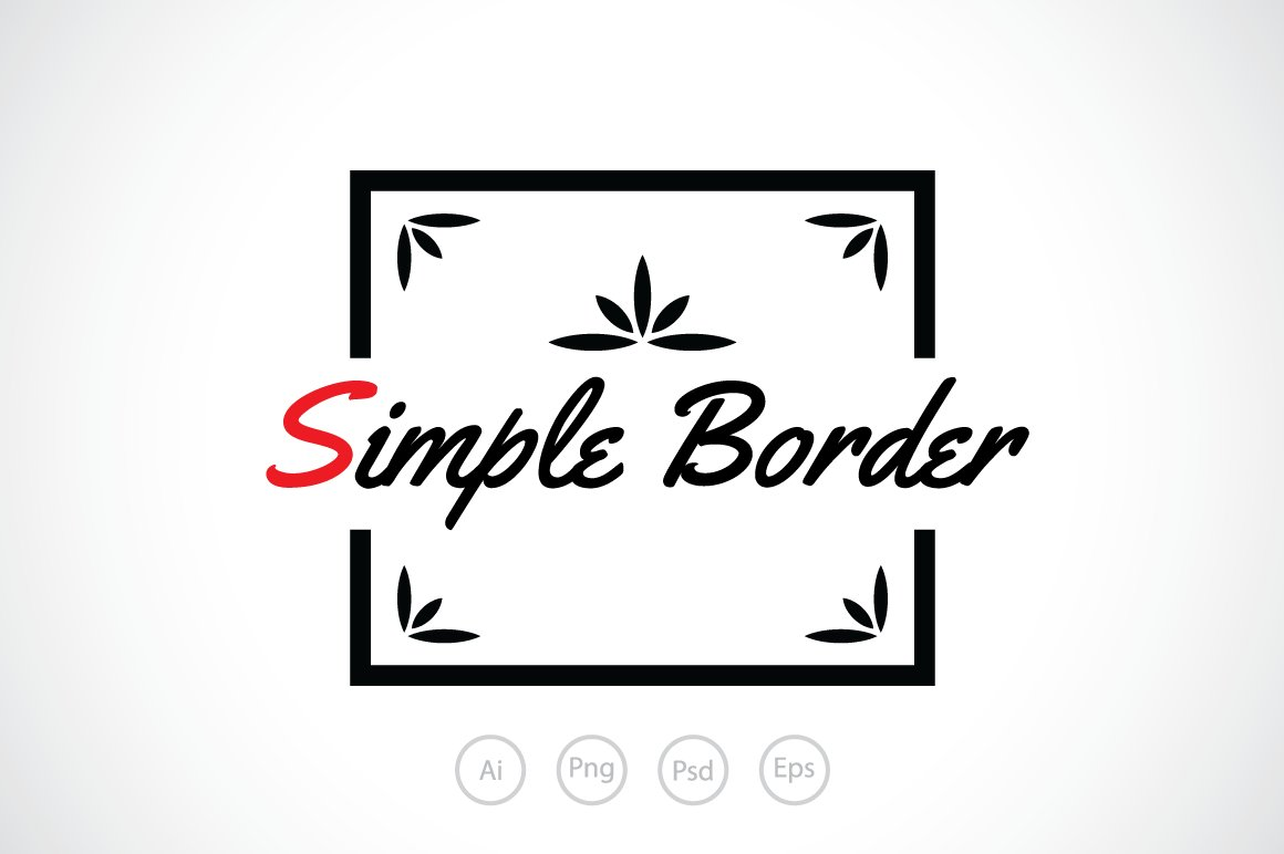 Simple Border Logo Template Templates Creative Market