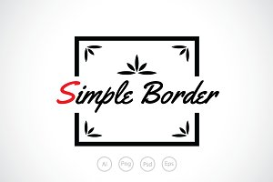 Simple Border Logo Template