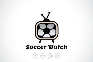 Soccer Watch Logo Template