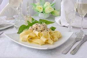 pasta with chicken filet