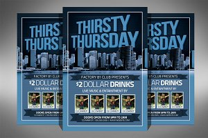 Thirsty Thursday Club Flyer