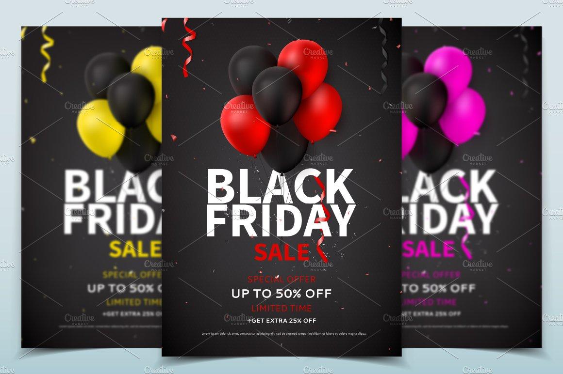 black friday sale flyer template flyer templates creative market