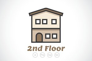 2nd Floor Property Logo Template