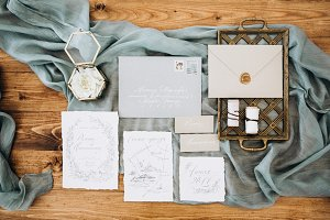 Wedding calligraphy and decor