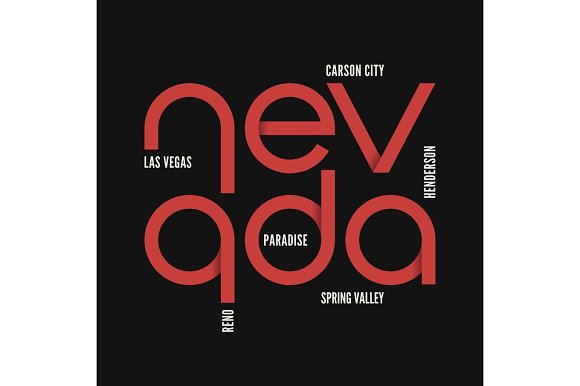 Nevada State T-shirt And Apparel Vector Design