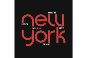 New York City. T-shirt and apparel vector design.