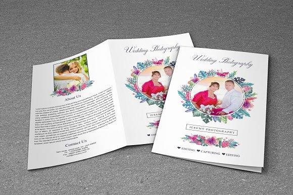 Wedding Photography Brochure Bifold Brochure Templates - Wedding brochure templates