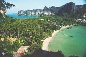 A beautiful beach in Thailand