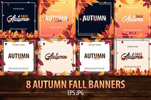 Autumn Fall Banners Bundle