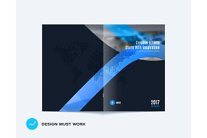 Design of business vector template, brochure, abstract annual report,