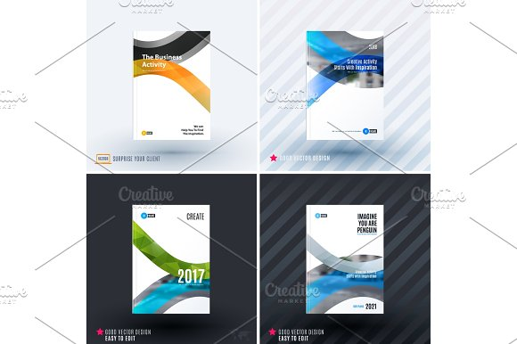 Design Of Business Vector Template Brochure Abstract Annual Report Cover Modern Layout