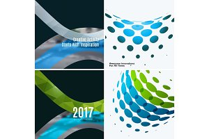 Set of abstract vector rounded design elements