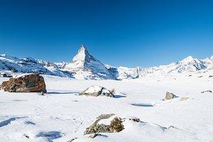 Winter Matterhorn peak