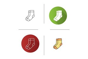 Warm socks icon