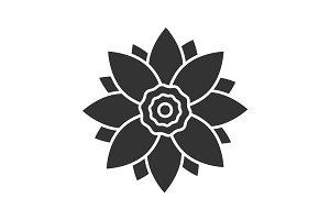 Lotus flower glyph icon