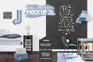 Kids Room Wall/Frame Mock Up 26