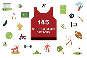 145 Sports and Games Vectors