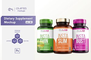 Dietary Supplement Mockup v. 1B Plus