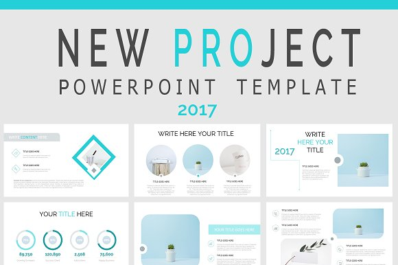 New Project Powerpoint Sale Of Presentation Templates Creative